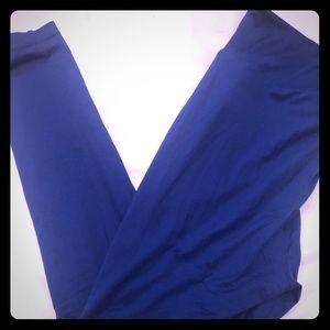 Lularoe TC2 leggings size 1X, 2X,3X. Dodger blue